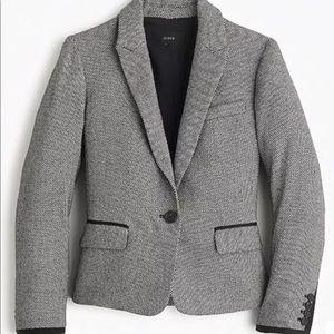 J. Crew Mini Dot 100% Wool Blazer Sz 0 Career Jack